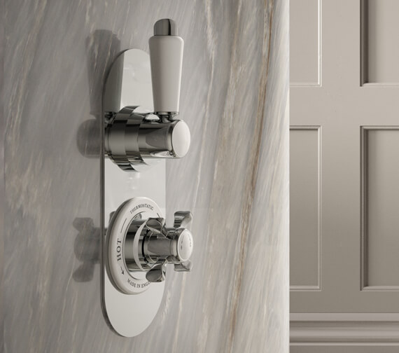 Nuie Selby Traditional Twin Concealed Shower Valve