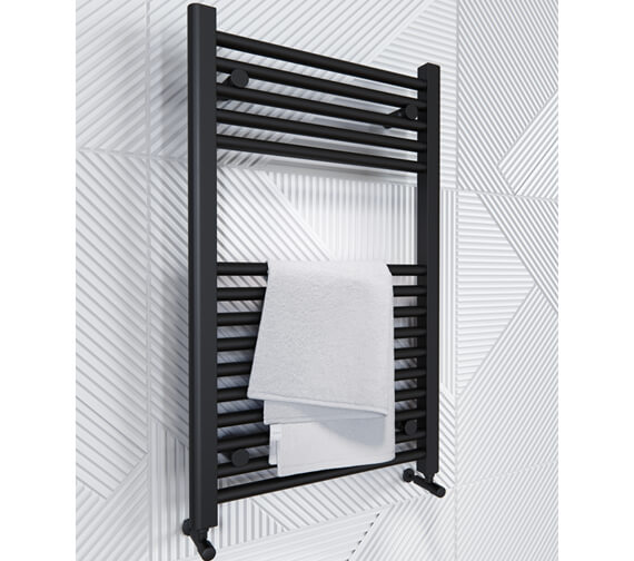 Alternate image of Saneux Ember Dual Fuel Heated 500mm Wide Towel Rail