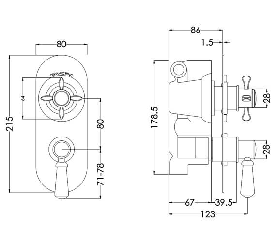 Technical drawing QS-V94213 / SELTW01
