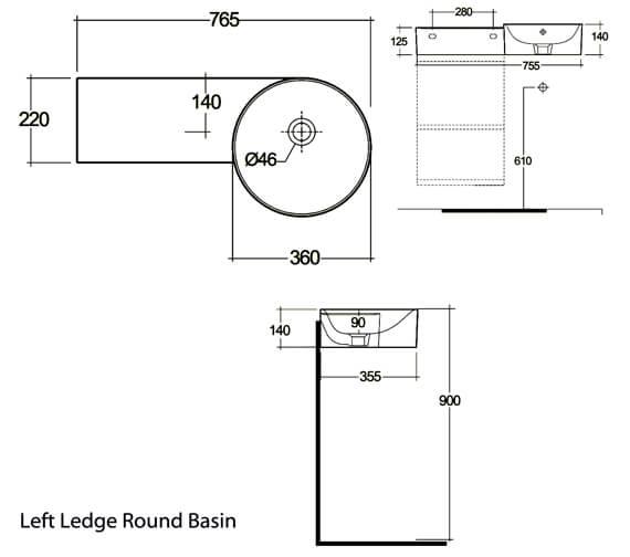 Technical drawing QS-V105569 / PETWB17700AWHA