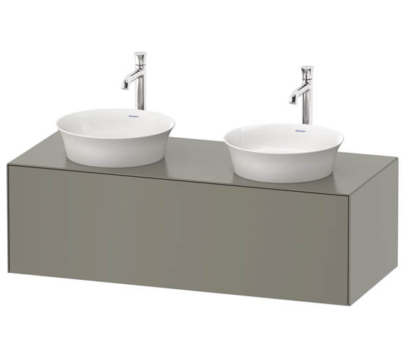 Duravit White Tulip 1 Pull Out Compartment Vanity Unit For 2 Washbowl