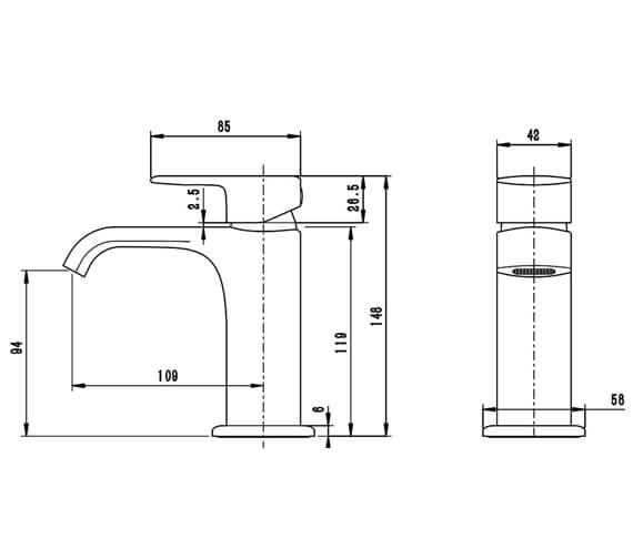 Technical drawing QS-V98787 / T356102
