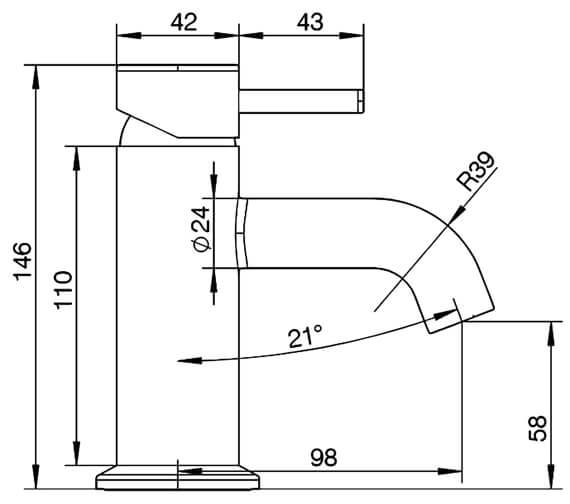 Technical drawing QS-V98790 / T346102