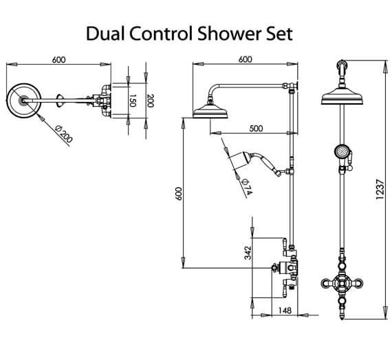 Technical drawing QS-V98770 / SVSET125