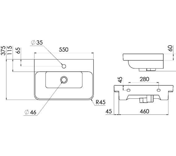 Technical drawing QS-V95928 / HY050F.MW