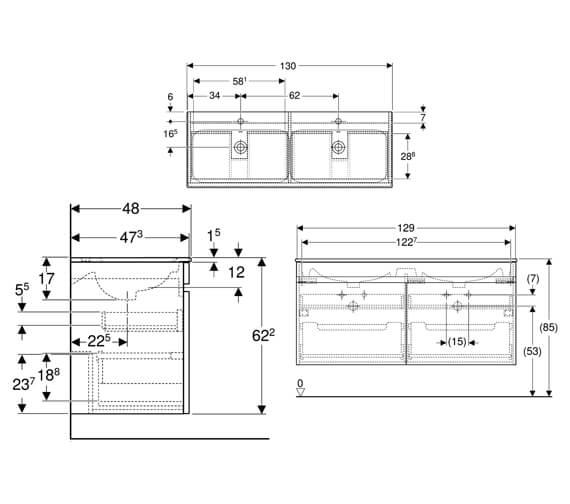 Technical drawing QS-V94220 / 501.918.01.1
