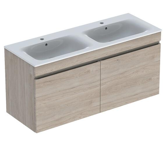 Additional image of Geberit Renova Plan 1300 x 480mm Double Drawer Vanity Unit And Slim Basin
