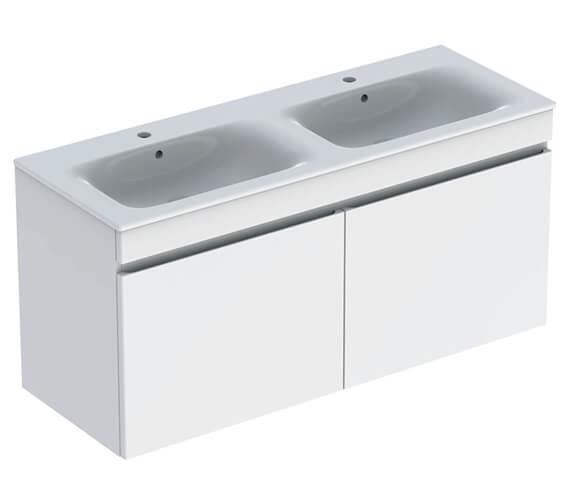 Geberit Renova Plan 1300 x 480mm Double Drawer Vanity Unit And Slim Basin