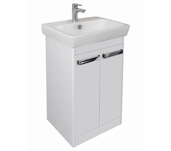 Additional image of VitrA M-Line Floor Standing 2 Door Wash Basin Unit
