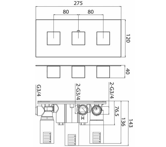 Technical drawing QS-V82580 / TO219