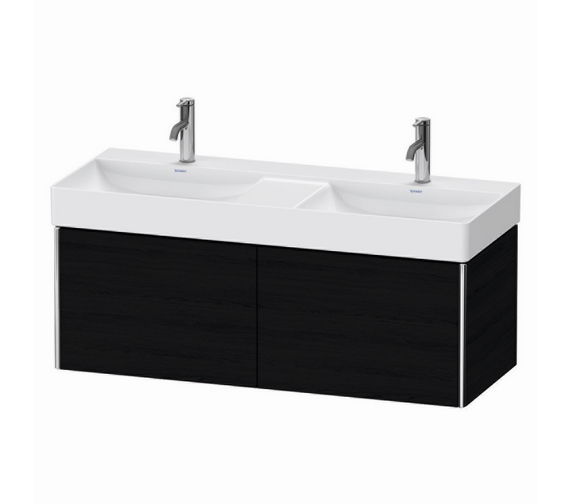 Additional image of Duravit XSquare 1200mm Wall Mounted 2 Pull-Out Compartment Vanity Unit And Durasquare Double Bowl Basin