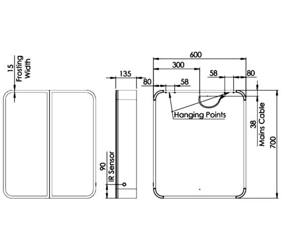 Technical drawing QS-V98666 / SYC060