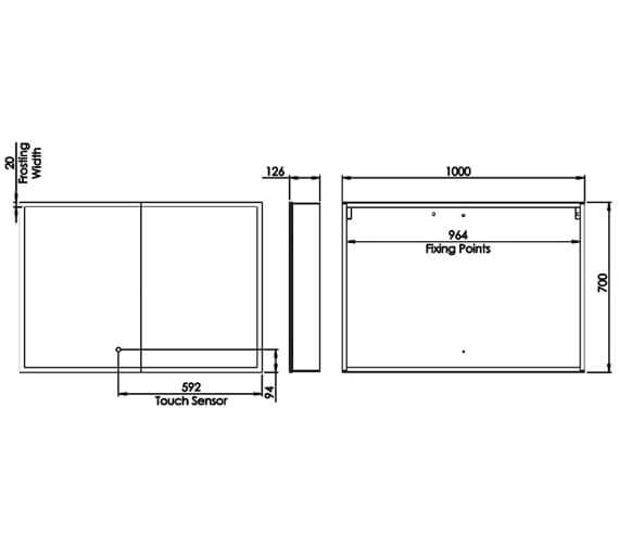 Technical drawing QS-V98668 / PSC065