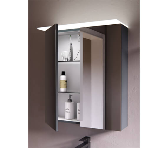 Saneux Austen 600mm 2 Door Mirror Cabinet