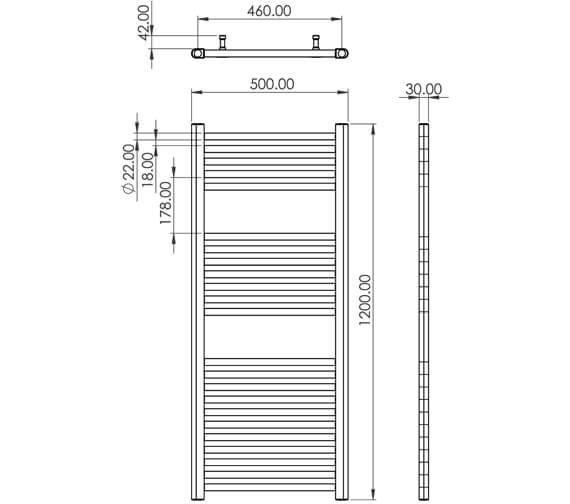 Technical drawing QS-V104772 / EM8005