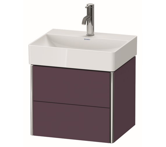 Additional image of Duravit XSquare Wall-Mounted 2-Drawer Compact Vanity Unit 484 x 390mm