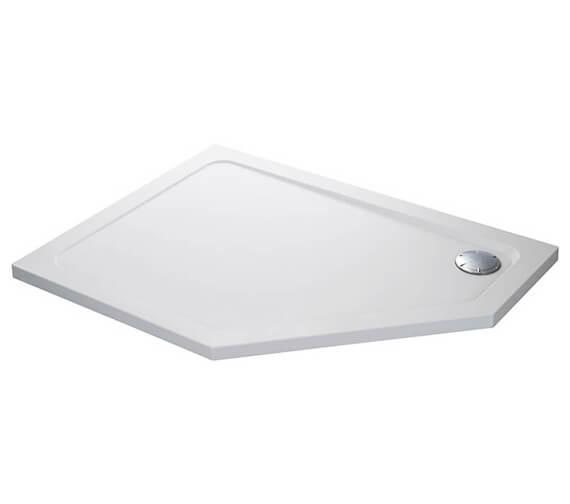 Mira Flight Safe 1200 x 900mm Pentagon Shower Tray With Waste