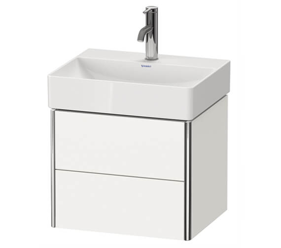 Duravit XSquare Wall-Mounted 2-Drawer Compact Vanity Unit 484 x 390mm