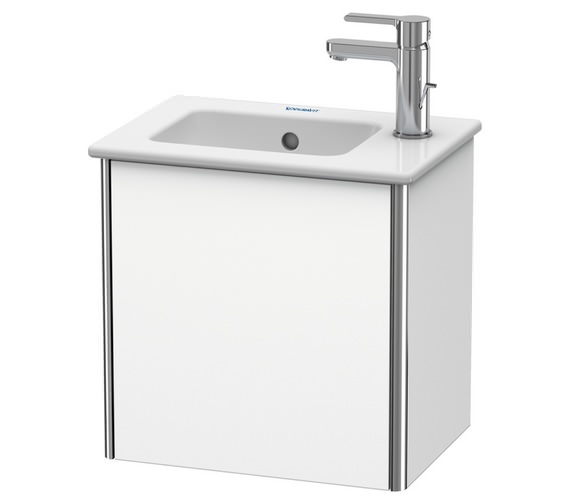 Duravit XSquare 410 x 289mm Wall-Mounted 1-Door Vanity Unit For ME by Starck Basin