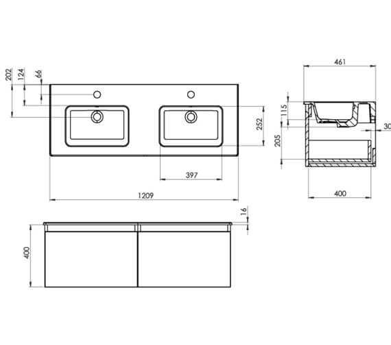Technical drawing QS-V104781 / UN120W1.MW