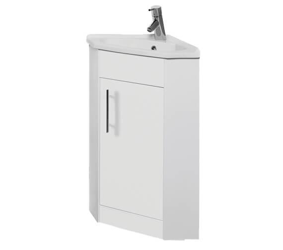 Kartell K-Vit Encore Single Door Corner Bathroom Vanity Unit With Basin