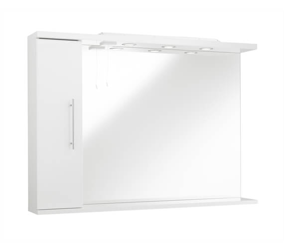 Kartell K-Vit Encore 750mm High Mirror With Side Cabinet