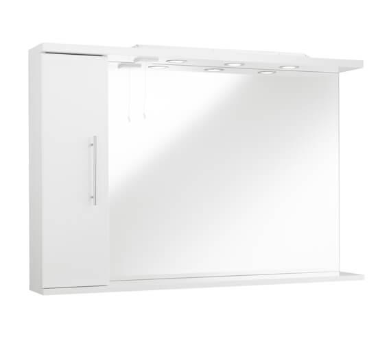 Alternate image of Kartell K-Vit Encore 750mm High Mirror With Side Cabinet