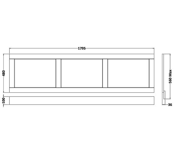Technical drawing QS-V90781 / LOP205