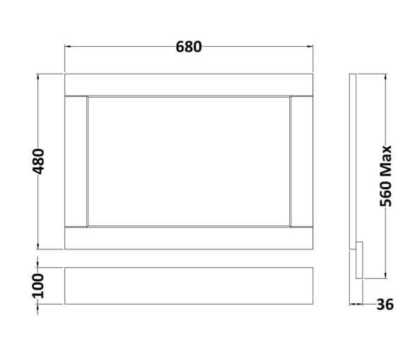 Technical drawing QS-V90891 / LOP211