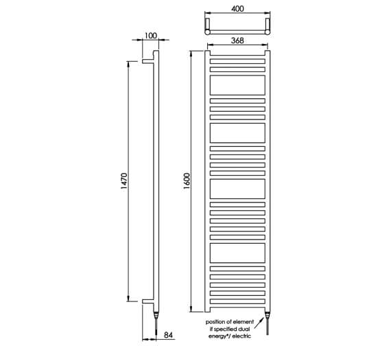 Technical drawing QS-V88529 / MD035 SS0800400PS