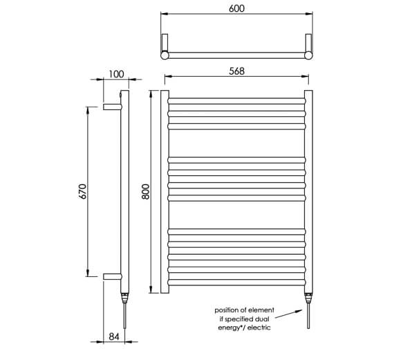Technical drawing QS-V88531 / MD035 SS0800600PS