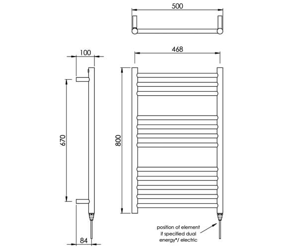 Technical drawing QS-V88530 / MD035 SS0800500PS