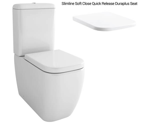 Alternate image of IMEX Essence 660mm Close Coupled WC Bowl With Cistern And Seat