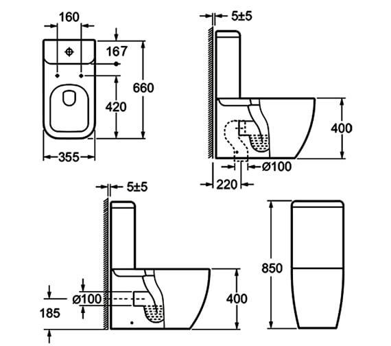 Technical drawing QS-V72191 / C10100