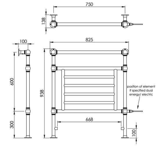 Technical drawing QS-V88587 / LG003A BR093067CP