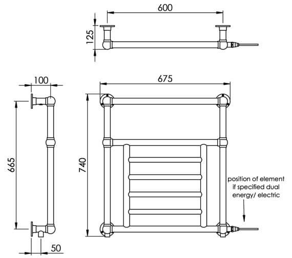 Technical drawing QS-V88584 / LG003D BR074067CP