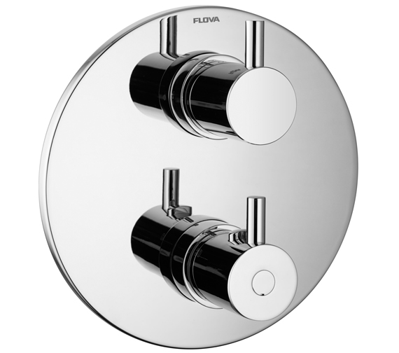 Additional image of Flova Levo Concealed Shower Trim Kit With Thermostatic Smart Box