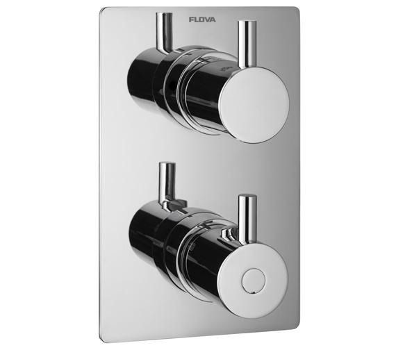 Flova Levo Concealed Shower Trim Kit With Thermostatic Smart Box