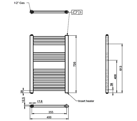 Technical drawing QS-V84539 / MTY156