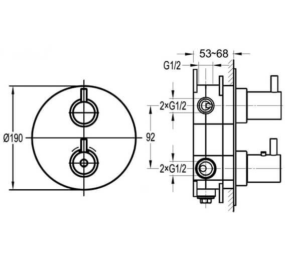 Technical drawing QS-V27171 / LV1-TRIM-SQ|SMBOX123
