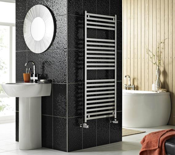 Vogue Squire 580mm Wide Mildsteel Straight Towel Rail