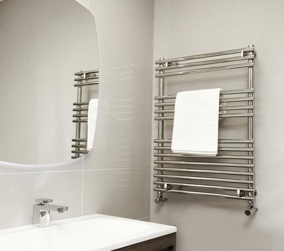 Vogue Stella 600mm Wide Stainless Steel Straight Towel Rail