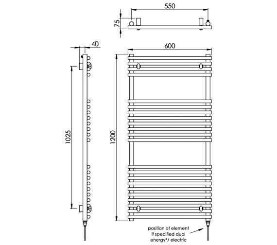 Technical drawing QS-V88535 / MD034 SS0800600PS