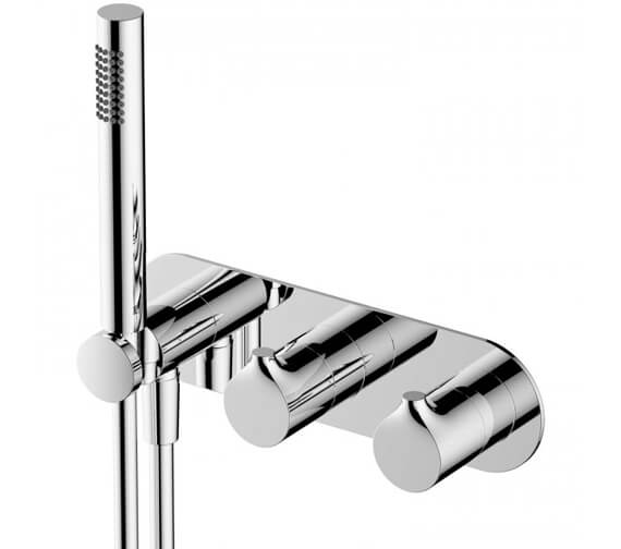 RAK Sorrento Horizontal Dual Outlet Thermostatic Concealed Shower Valve With Handset