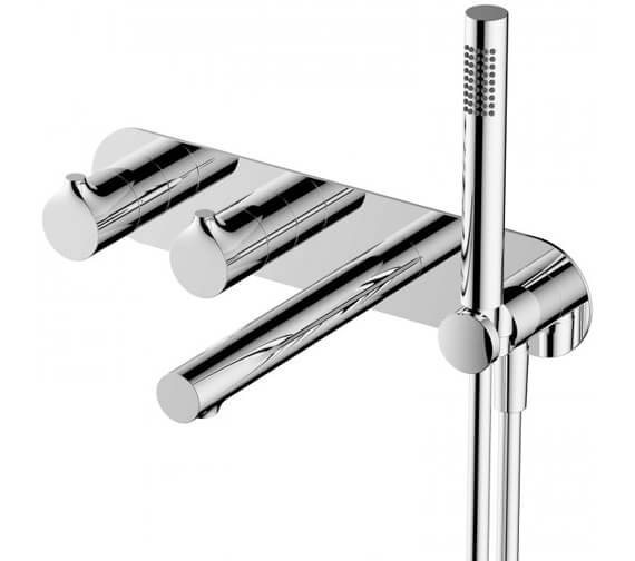 Additional image of RAK Sorrento Horizontal Dual Outlet Thermostatic Concealed Shower Valve With Handset