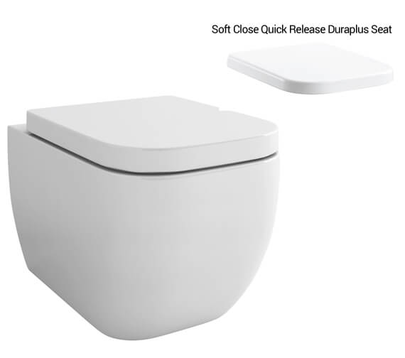 Alternate image of IMEX Essence 500mm Wall Hung WC Bowl With Seat