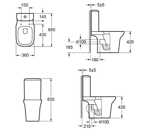 Technical drawing QS-V100847 / C10134C T10134 GRSL10134SCQR