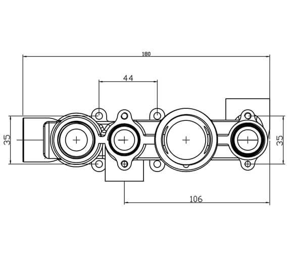 Technical drawing QS-V98715 / SV7713