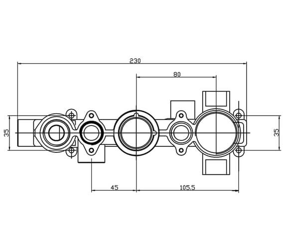Alternate image of Roper Rhodes Stream Thermostatic Concealed Shower Valve