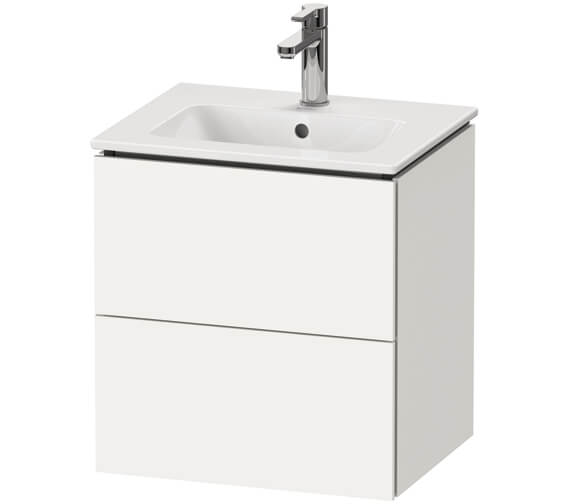 Duravit L-Cube 520mm Wall Mounted 2 Drawer Vanity Unit For Me By Starck Basin